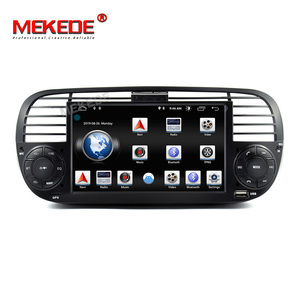 Image 2 - 2G RAM Android 9.0 Car DVD Player Multimedia For FIAT 500 GPS Navigation Audio 4G Wifi DAB+BT TPMS