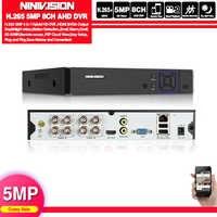 HD 5 en 1 5MP AHD DVR NVR XVR CCTV 8Ch 1080P 4MP 5MP de seguridad híbrido grabadora DVR cámara de Onvif RS485 Coaxial Control P2P nube