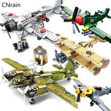 WW2 Aircraft Compatible Legoed Plane German JU-88 BF-109 Fighter Soviet TU-2 Bomber Military air force Model Building Block Toys
