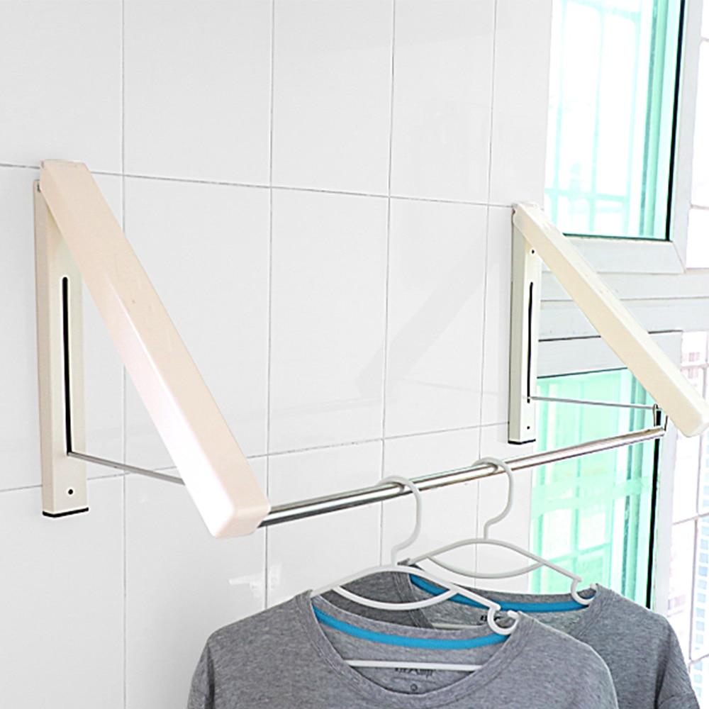 clothes hanger indoor rack folding racks laundry clothes hanger wall mounted clothes drying rack home storage living room rack