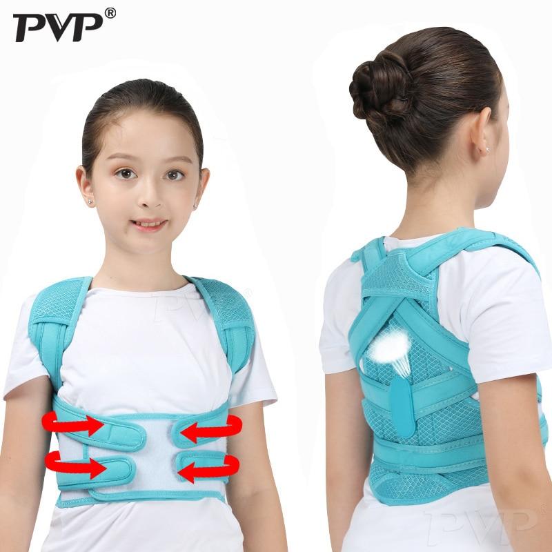 Ajustável volta corset postura corrector cinto ombro suporte cintura cinta volta correção de postura para adultos & kidsfor menina menino