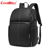 17 Inch Cross Border Business Backpack Large Capacity Laptop Backpack USB Rechargeable Waterproof Night Riding Reflective School