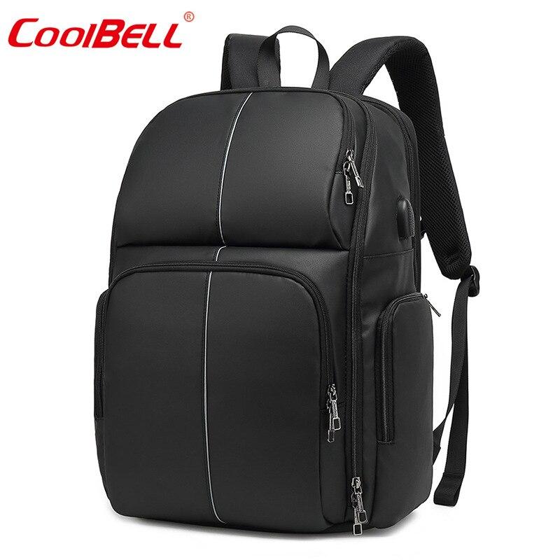 Sac à dos d'affaires transfrontalier de 17 pouces sac à dos pour ordinateur portable de grande capacité USB Rechargeable imperméable à l'eau