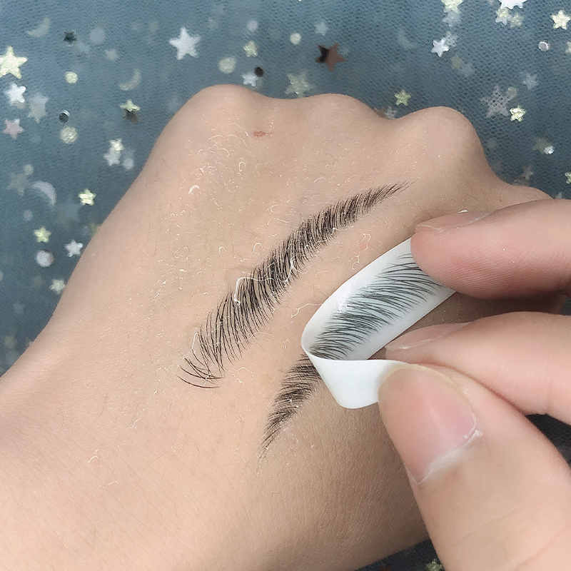 O.TWO.O 4D Hair Like Eyebrows Makeup Waterproof Eyebrow Tattoo Sticker Long Lasting Natural Fake Eyebrow Lamination Cosmetics 1