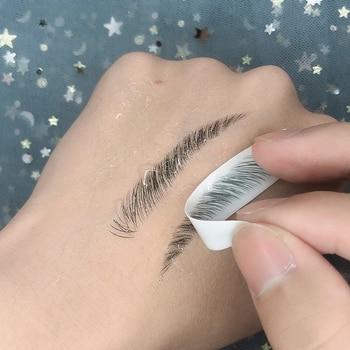 O. tw o.o 4d cabelo como sobrancelhas maquiagem à prova dwaterproof água sobrancelha tatuagem adesivo de longa duração natural falso sobrancelha adesivos cosméticos 1