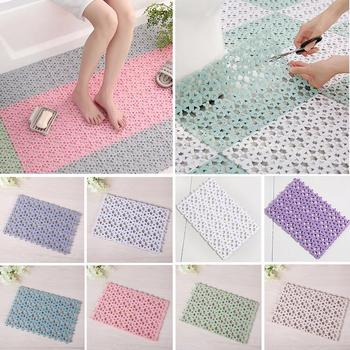 Waterproof Bath Mat Anti Slip Massage Shower Carpet DIY Stitching Puzzle Pad image