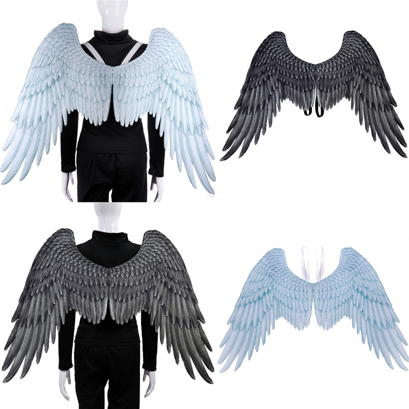 Halloween 3D Angel Wings Mardi Gras Theme Party Cosplay Wings For Children Adult Big Large Black Wings Devil Costume|Costume Props|   - AliExpress