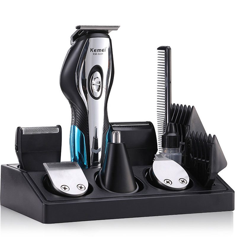 11-IN-1 <font><b>Kemei</b></font> KM-<font><b>5031</b></font> Professional Fast Charging Hair Trimmer Clipper Haircut Shaver Wireless Beard Razor Styling Engraver Tools image
