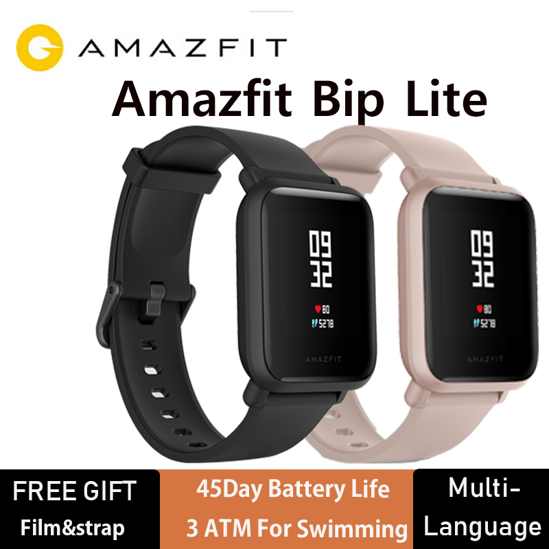 Amazfit Smartwatch-Heart-Rate-Monitor Always-On-Display Bip-Lite 45-Days-Battery-Life