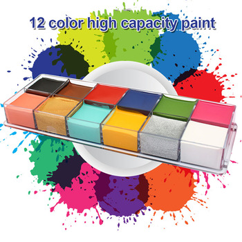 New Hot Face Body Paint Pigment Oil Painting 12 Colors Make Up Tools for Halloween Party SMR88