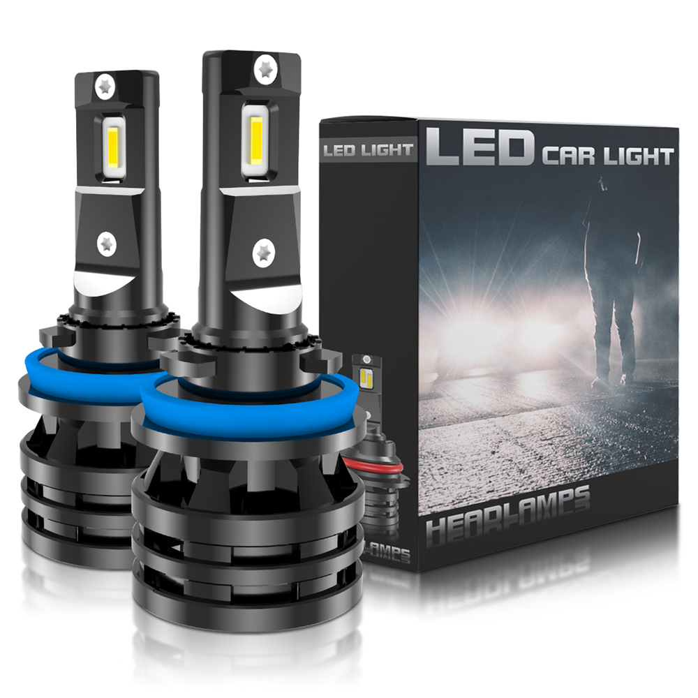 2x H8 H9 H11 <font><b>LED</b></font> Car Light Bulbs H4 <font><b>H7</b></font> H1 H3 HB3 HB4 9005 9006 <font><b>LED</b></font> Headlight for Car <font><b>Lamp</b></font> Turbo Bulbs for Auto 12V 24V CANBUS image