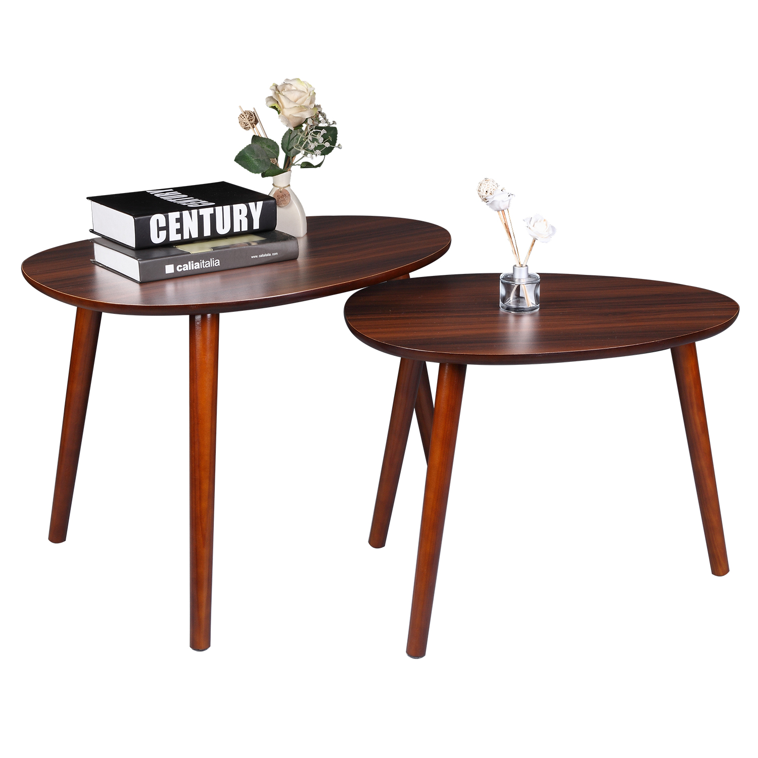 2pcs Set Nordic Style Cherry Wood Coffee Table Living Room Sofa Side Table Small Tea Table Home Furniture Aliexpress