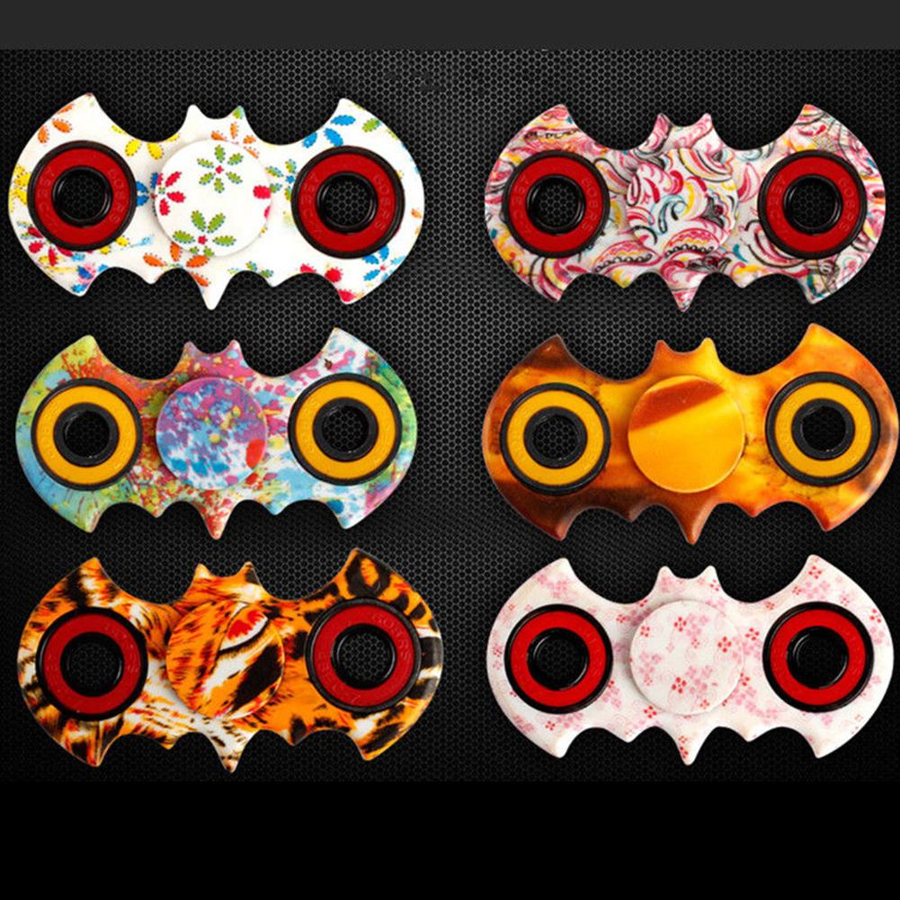 Bat Style Oil Painting Watercolor Fidget Finger Hand Spinner ADHD Focus Toy Stress Relief Toys