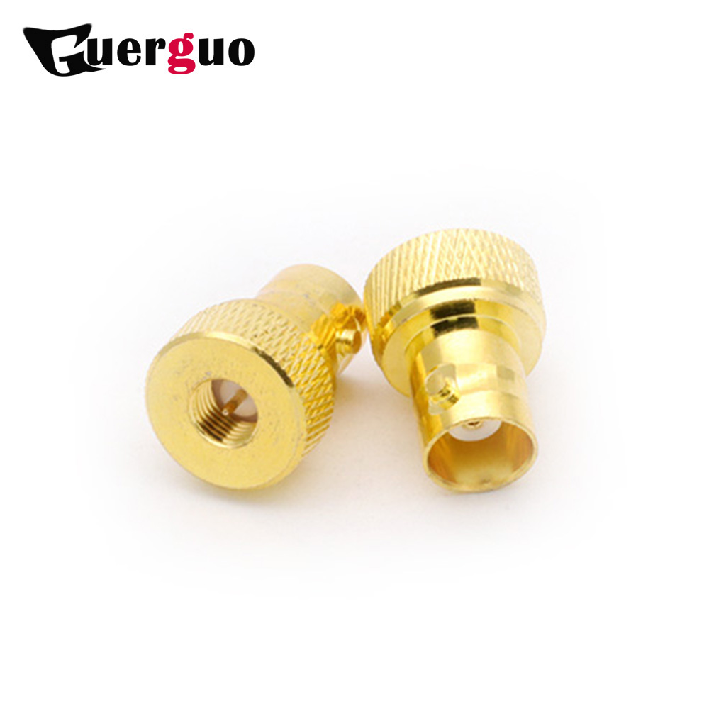 100PCS Brass Gold Plated SMA Male to BNC Female Connector RF Coaxial Coax Adapter R Connector Wholesales