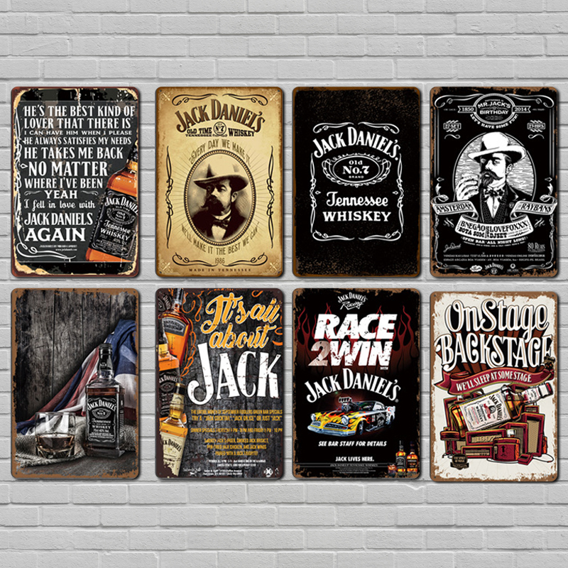 Vintage Whiskey Metal Vintage Pub Bar Man Cave Kitchen Wall Home Decoration Tennessee Whiskey Wall Art Poster image