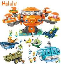 Ensemble de jeu Les Octonauts, poulpe, Barnacles, kwazii, peso, Inkling, double éclairages, briques, jouet pour enfants, bloc de construction