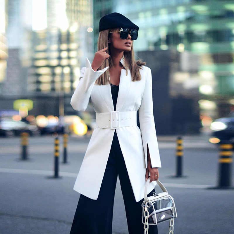 Năm 2020 Nữ Cam Dài Tay Chắc Chắn Một Nút Áo Khoác Mỏng Nữ Công Sở Áo Khoác Áo Lót Nữ Phù Hợp Với Quần Áo áo Khoác