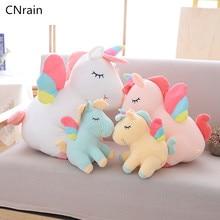 цена 25cm 40cm 55cm lovely unicorn plush toy pink fly horse with rainbow wings baby kids appease doll birthday gift for little girl онлайн в 2017 году