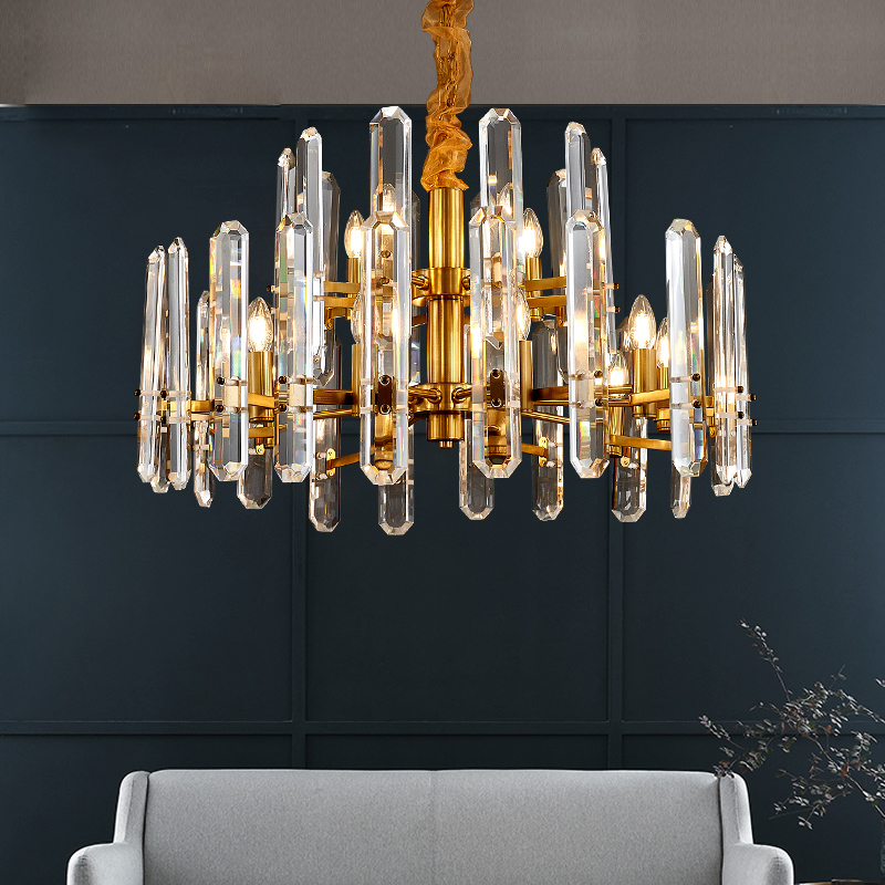 Post-modern Luxury Chandelier Living Room Lighting Hong Kong-style Creative Restaurant Light In The Bedroom Simple Atmospheric