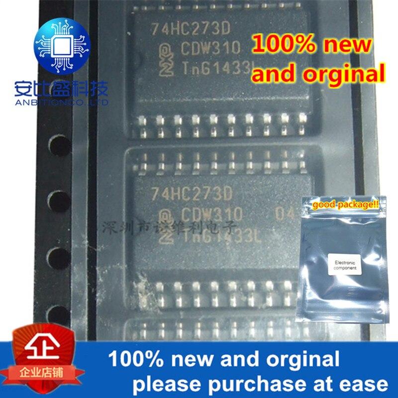 10pcs 100% New And Orginal 74HC273D SOP-20 Octal D-type Flip-flop With Reset; Positive-edge Trigger In Stock