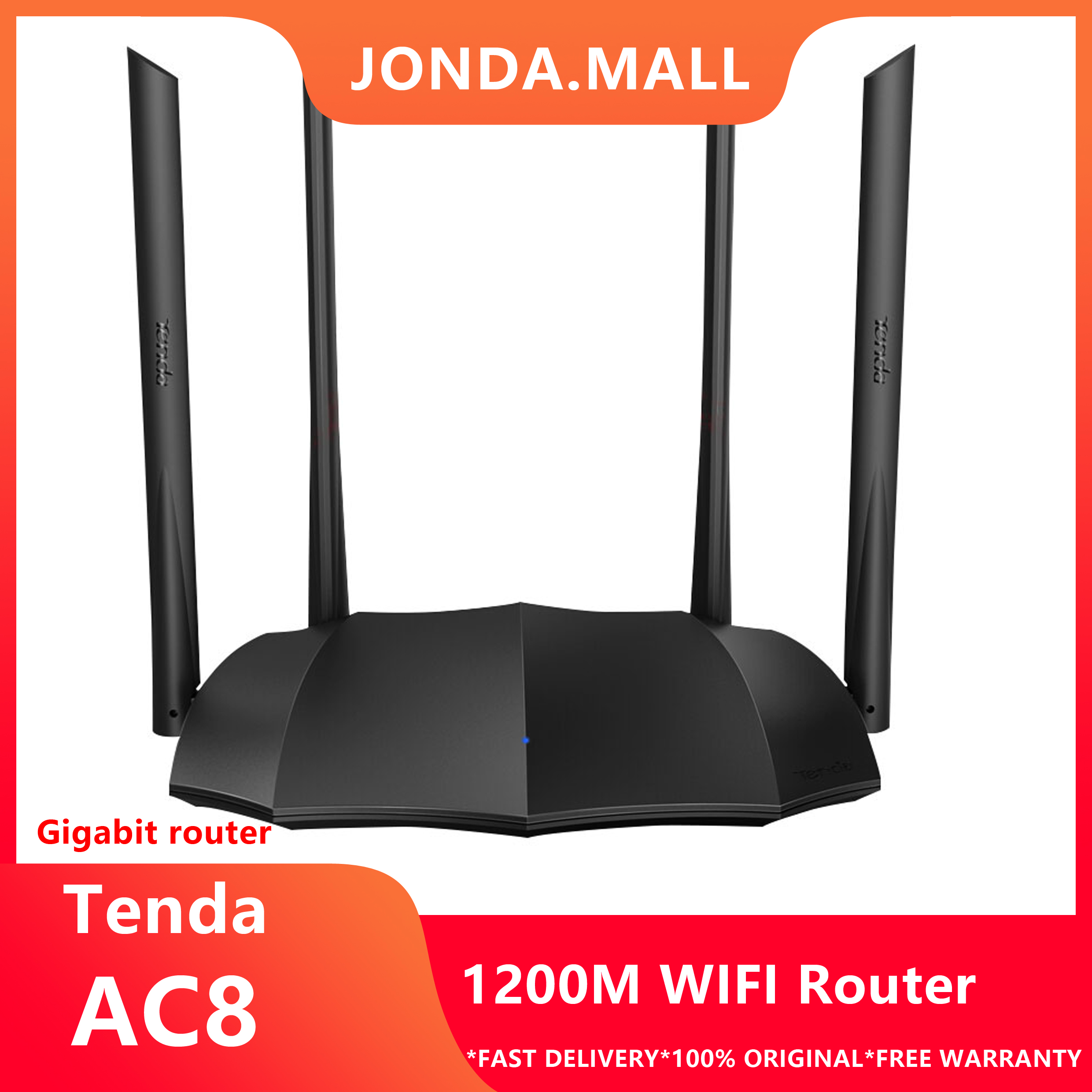 Tenda AC8 AC1200M Wireless WiFi Router Support IPV6 Home Coverage Dual Band Wireless Router,App Control