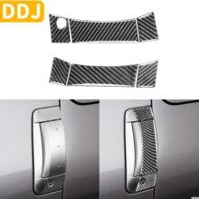 Cubierta Exterior de fibra de carbono para Nissan 350Z Z33, cubierta Exterior de manija de puerta, pegatina protectora modificada, accesorios para coche