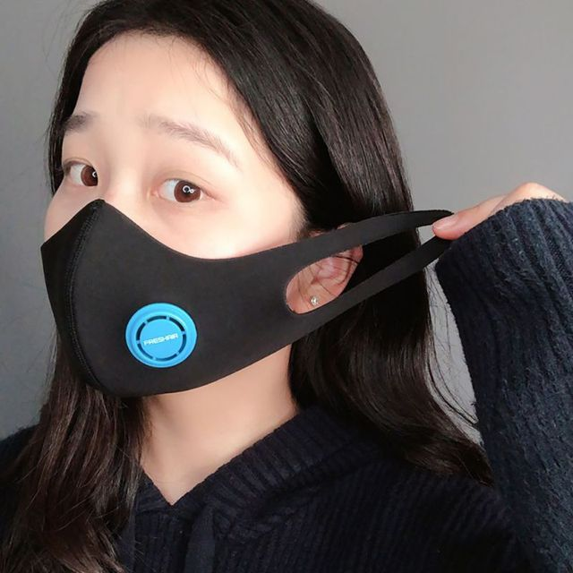 Cotton PM2.5 Black mouth Masks anti dust mask Activated carbon filter Windproof Mouth-muffle bacteria proof Flu Face masks 3