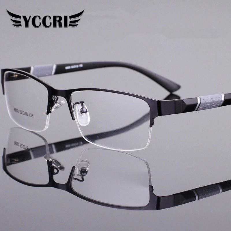 Okuma gözlüğü erkekler kadınlar yüksek kalite yarım çerçeve diyoptri gözlük iş erkek presbiyopik gözlük Lentes De Lectura Mujer