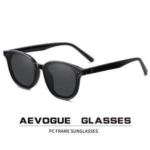 Image 1 - AEVOGUE New Women Retro Outdoor Polarized Sunglasses Transparent Korean Round Fashion Driving Sun Glasses Unisex UV400 AE0850