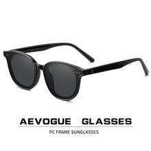 AEVOGUE جديد إمرأة ريترو في الهواء الطلق الاستقطاب النظارات الشمسية شفافة الكورية الجولة موضة القيادة نظارات شمسية للجنسين UV400 AE0850