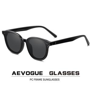 Image 1 - Aevogue 新女性レトロ屋外偏光サングラス透明韓国ラウンドファッション駆動サングラスユニセックス UV400 AE0850
