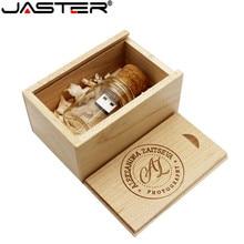 JASTER 새로운 부동 병 pendrive 4 기가 바이트 8 기가 바이트 16 기가 바이트 32 기가 바이트 64 기가 바이트 유리 소원 병 usb 플래시 드라이브 U 디스크 메모리 스틱 결혼 선물
