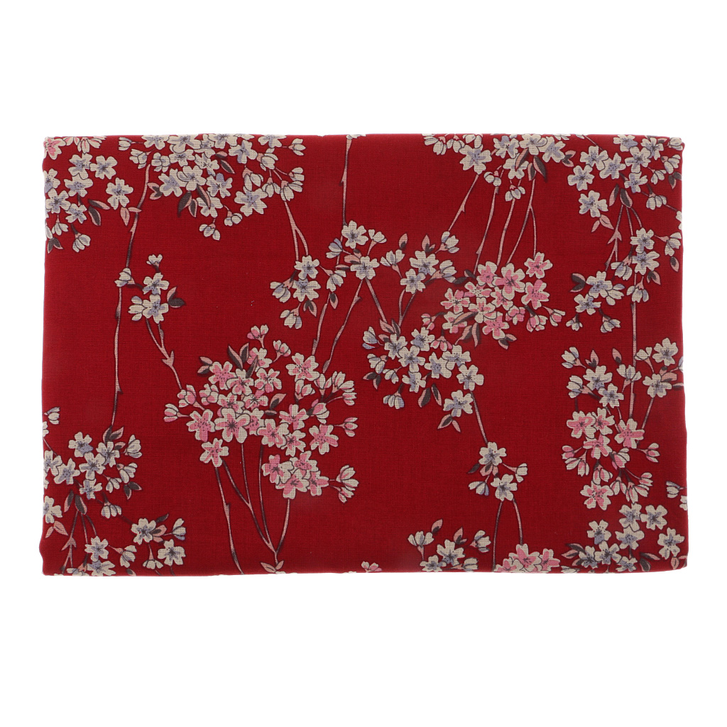 Plum Blossom Japanese Kimono Cotton Fabric Quilting Clothes Fabric by the Metre