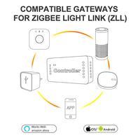 GLEDOPTO ZIGBEE zll kontroler rgbw kontroler taśmy ledowej ściemniacz rgb inteligentna kontrola aplikacji praca z ZigBee3.0 i wieloma bramami w Kontrolery RGB od Lampy i oświetlenie na