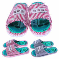 Massage Slippers Striped Reflexology Acupuncture Sandals Foot Acupoint Shoes for Women Men TC21