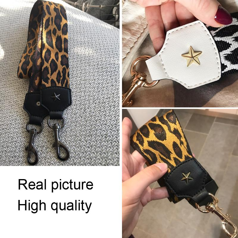 Adjustable Leopard Printed Bag Strap Wide Handbag Shoulder Bag Straps Replacement Accessories Bags Part Belt For Bags 100cm 2021