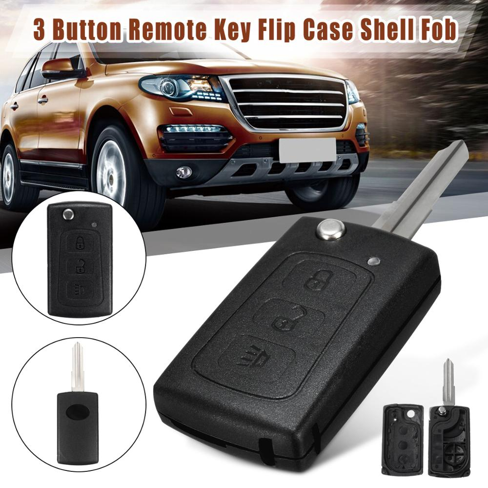 3 Button Car Folding Remote Flip Key Case Shell Fob With Battery Holder Replacement For Great Wall HAVAL HOVER H3 H5