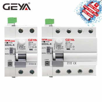 Free Shipping GEYA GRD9L Magnetic RCCB Self Recloser Circuit Breaker Remote Control Circuit Breaker 40A 63A Smart  Breaker 10pcs hydraulic electromagnetic circuit breaker hd 30 1p 23a device protects the over magnetic circuit breaker