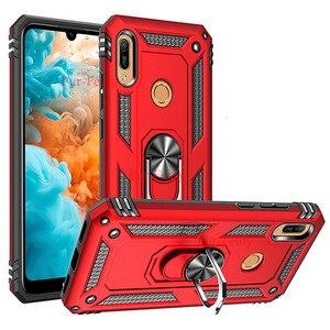 Чехол-бумажник для Huawei Y5 Y6 Y7 Y9 2019, Жесткий Чехол из мягкого ТПУ с защитой от ударов для Huawei Y 6 2019 Y7 2019, чехол для телефона