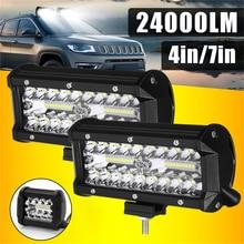1pc/2pcs Car LED Headlights Bar Spot Flood Beams Combo Waterproof  for Off road Truck Trailer 9 32V 4/7inch Car spotLights