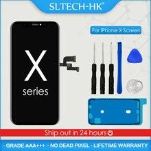 AAA + + + OLED dla iPhone X XR XS wyświetlacz LCD z ekranem dotykowym 3D prawdziwy dźwięk bez martwego piksela