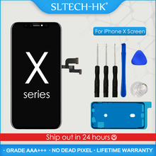 AAA + + + OLED iPhone X XR XS LCD ekran değiştirme ile 3D dokunmatik meclisi gerçek ton hiçbir ölü piksel