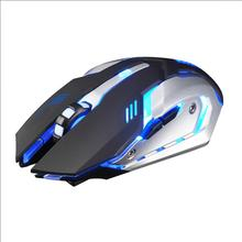 Ergonomic-Gaming-Mouse Wireless Rechargeable Backlit Optical LED USB Both-Hands X7 Silent
