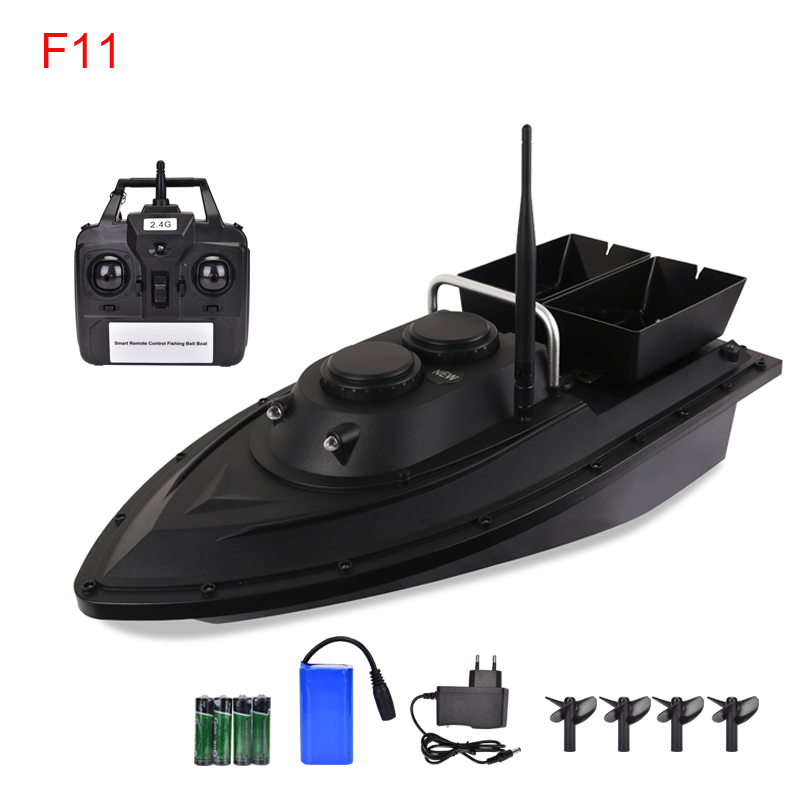 WILDGAMEPLUS F11 F13 Fishing Bait Boat with 500m Rmeote Control RC Fish Bait Boat Toy Fish Finder ship with waterproof bag