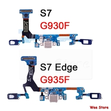 For Samsung Galaxy S7 Edge G930F G935F USB Charger Port Dock Connector Flex Cable Repair Parts for zte trek 2 hd k88 usb charger port dock connector flex cable with mic microphone repair parts