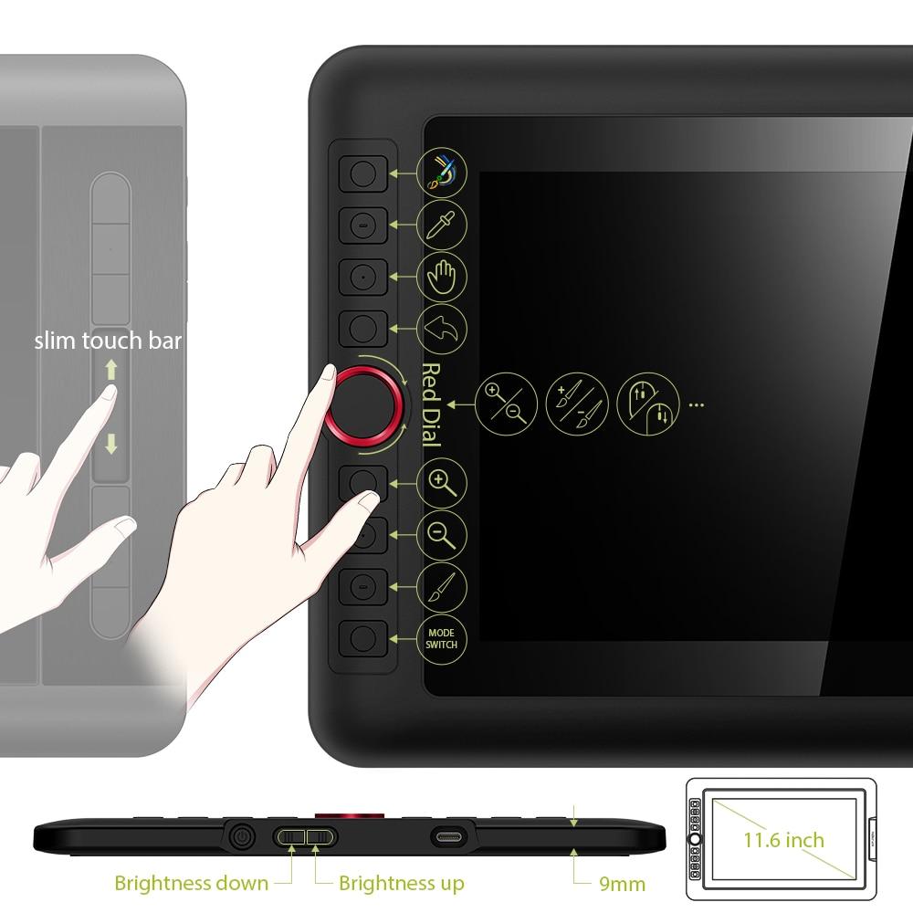 XP-Pen Artist 12 Pro tablette graphique dessin tablette graphique moniteur Animation numérique Art avec inclinaison 8192 pression - 5
