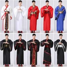 Новогодние костюмы для взрослых мужчин, китайский весенний праздничный костюм с вышивкой, свободный стиль, мужской костюм в стиле Танг, Hanfu
