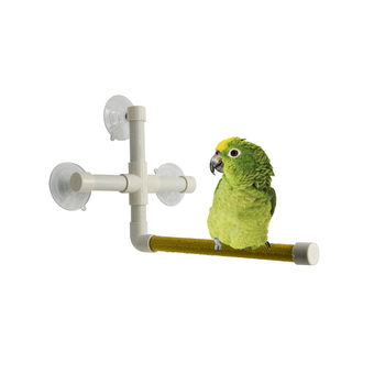Parrot Bird toy Shower Perches Bird Bath Standing Platform Rack toy Grinding Paw Rod Stick Bar Scrub Stand for Small Large Medium Parrot Stand Rack Platform Budge Paw Grinding Station toys Accessories supplies image
