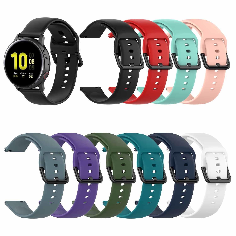 Bracelet en métal d'acier inoxydable de 20MM pour la montre de galaxie de Samsung actif/actif 2 40mm 44mm bandes montres intelligentes petit grand Bracelet