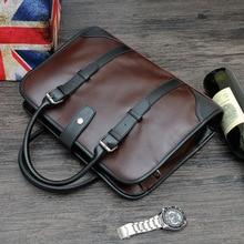 2019 Fashion Business Men Briefcase Bag Laptop Leather Casual Man Large Shoulder Bag Mens Messenger Bags Tote Office Handbags стоимость